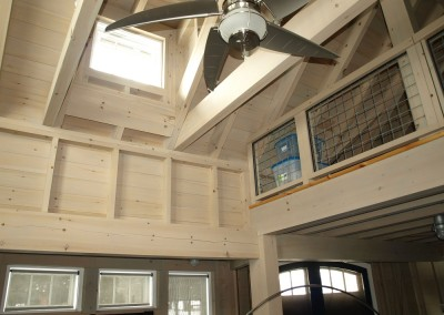 Stain choice in this timber frame gets high marks