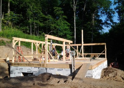 Starting the first floor in Victor, New York