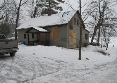 The owner lost this home to fire and wantd to replace it with timber frame