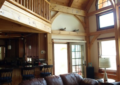 The owner of this timber frame did all the finish work himself, kudos to him!