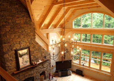 This Crogan NY second home is a fantastic retreat for the owners