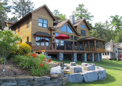 This Lake Champlain property is loaded with custom features designed for all the comforts of summer fun.