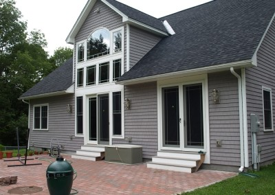 Wallingford Vt is the location for this home where our clients opted for lots of glass on this elevation.