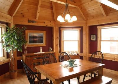 An octagonal dining room