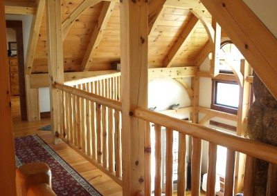 These rustic balusters are a nice touch